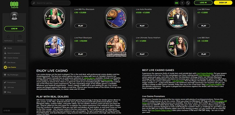 888 Live Casino Games Review Tips